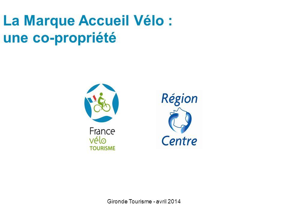 Gironde Tourisme - avril 2014 Les principaux critères loueurs et réparateurs de vélos Stock de 40 vélos (20 minimum + engagement 40 à léchéance des 3 ans) Ouverture 1er avril à 30 septembre + juin, juillet et août : 7/7 de 9h à 19h Assistance dépannage Consigne à bagages.