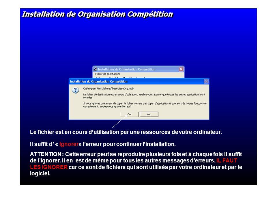 Le fichier est en cours dutilisation par une ressources de votre ordinateur.