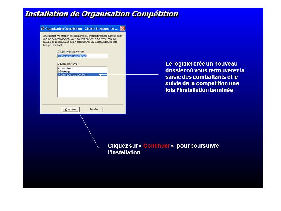 Si vous ne renseignez pas un répertoire pour créer la base des combattants et les tableaux (TIV) ceux-ci seront automatiquement enregistrés sur votre disque C.