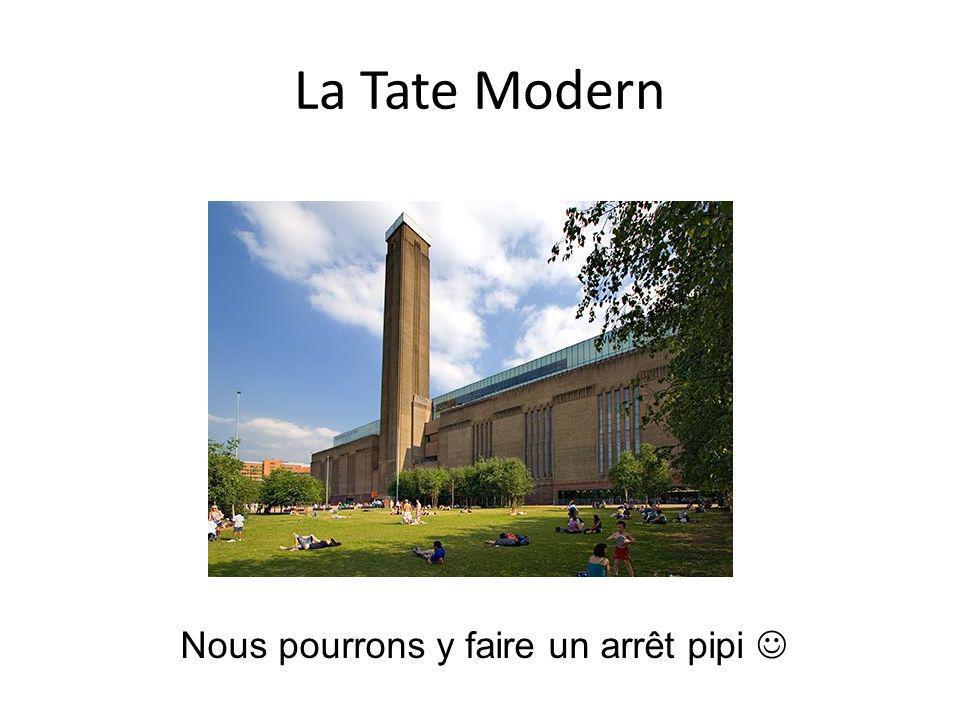 La Tate Modern Nous pourrons y faire un arrêt pipi