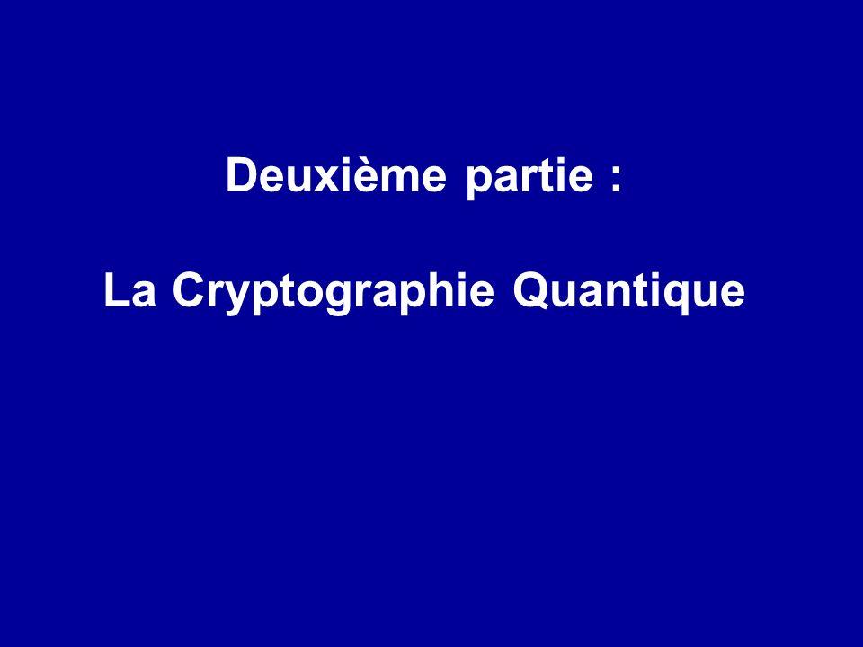 1 : Numériser (ASCII 8 bits) = 1= 0 Crypter :
