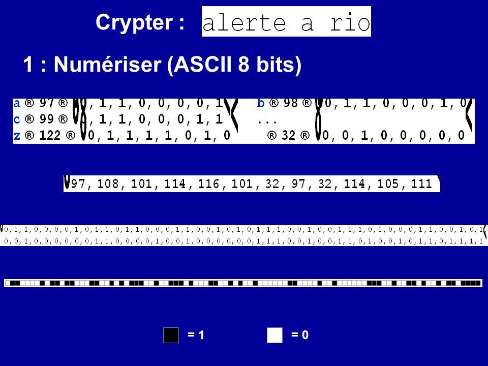 2 : Crypter Texte clair : Masque : Texte crypté : Cryptage Masque : Texte clair : Décryptage 1 ère stratégie : Masquer XOr