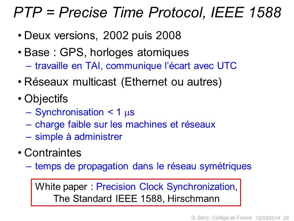 31/12/2008 : tous les lecteurs MP3 Zune (Microsoft) vident leur piles à minuit en bouclant sur deux tests 12/03/2014 27 G. Berry, Collège de France Bu