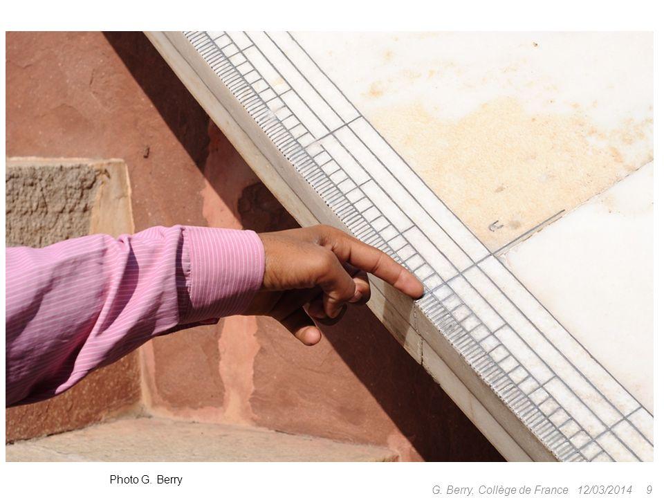 12/03/2014 8 G. Berry, Collège de France Yantra Mandir, Jaipur, ~1730 Photo G. Berry