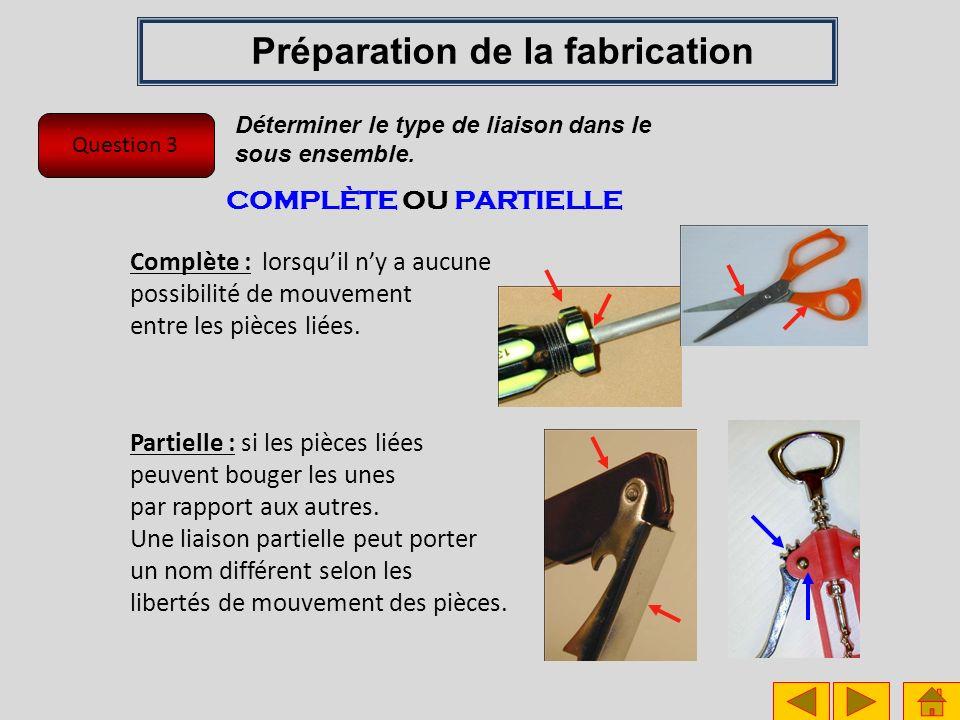 Question 4 Préparation de la fabrication Identifier le nombre de tronçons à découper pour réaliser la tuyauterie.