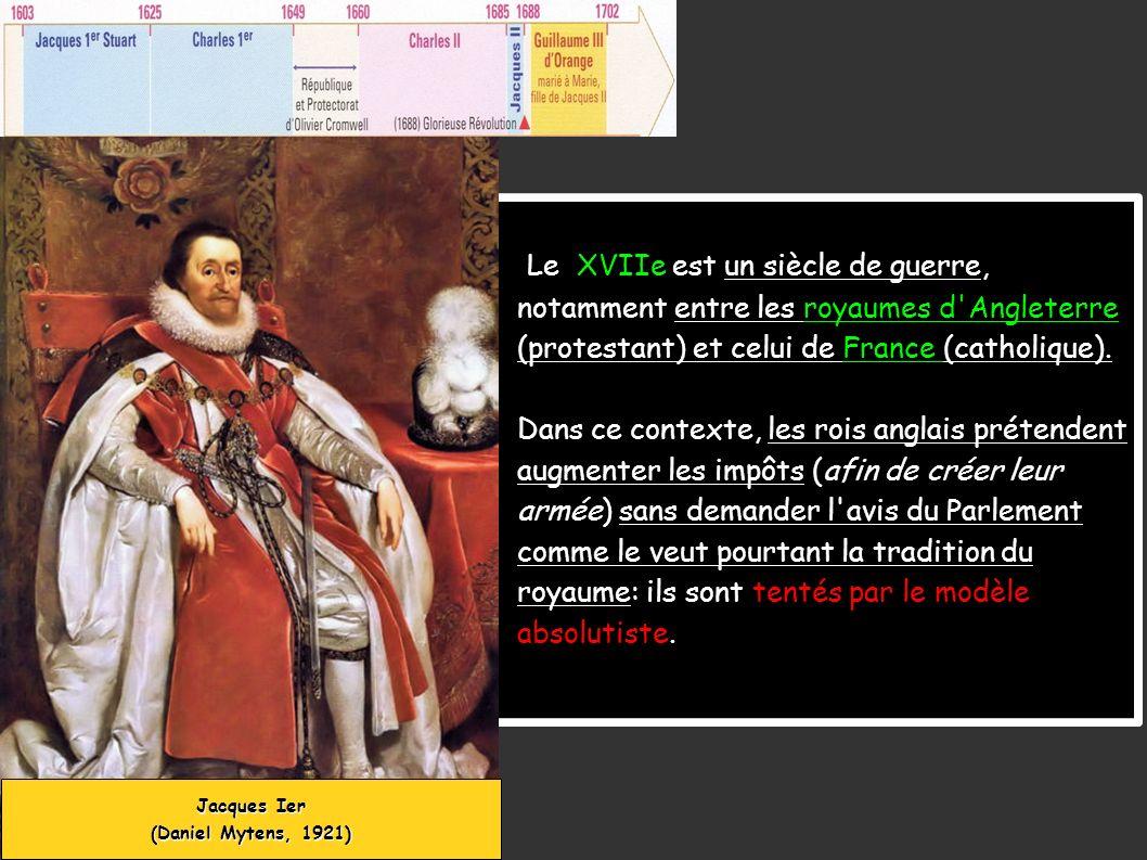 Le XVIIe est un siècle de guerre, notamment entre les royaumes d'Angleterre (protestant) et celui de France (catholique). Dans ce contexte, les rois a