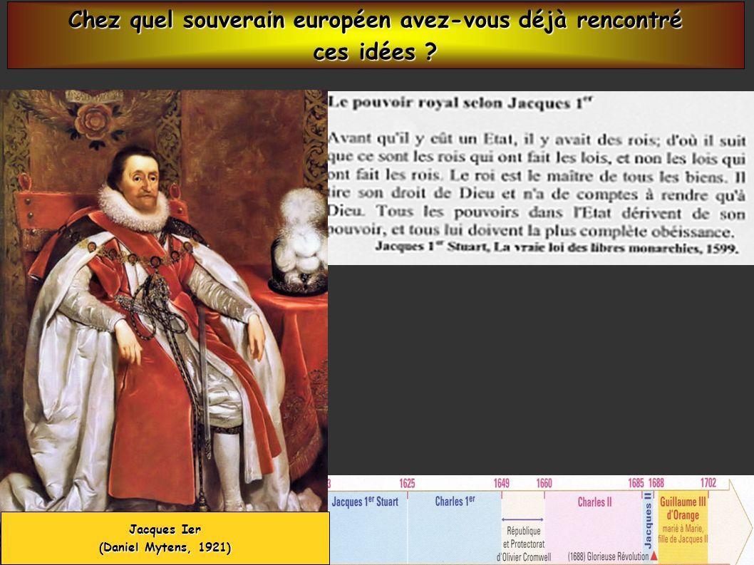 Jacques Ier (Daniel Mytens, 1921) Chez quel souverain européen avez-vous déjà rencontré ces idées ?