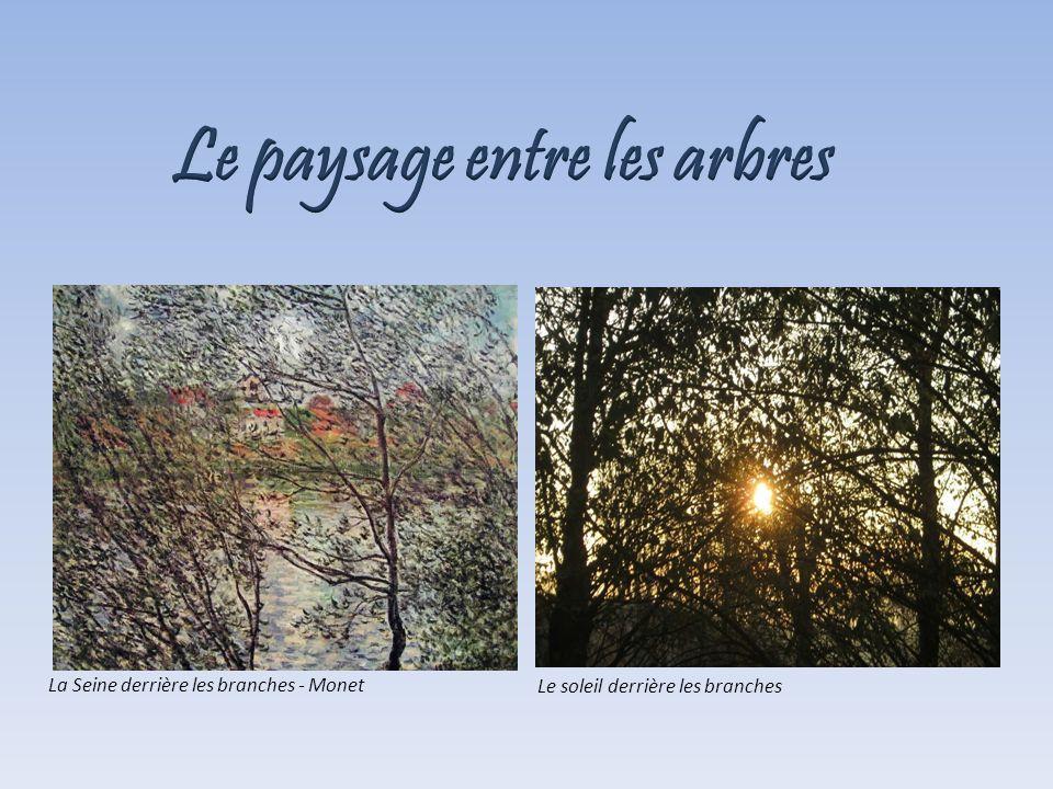 La Seine derrière les branches - Monet Le soleil derrière les branches