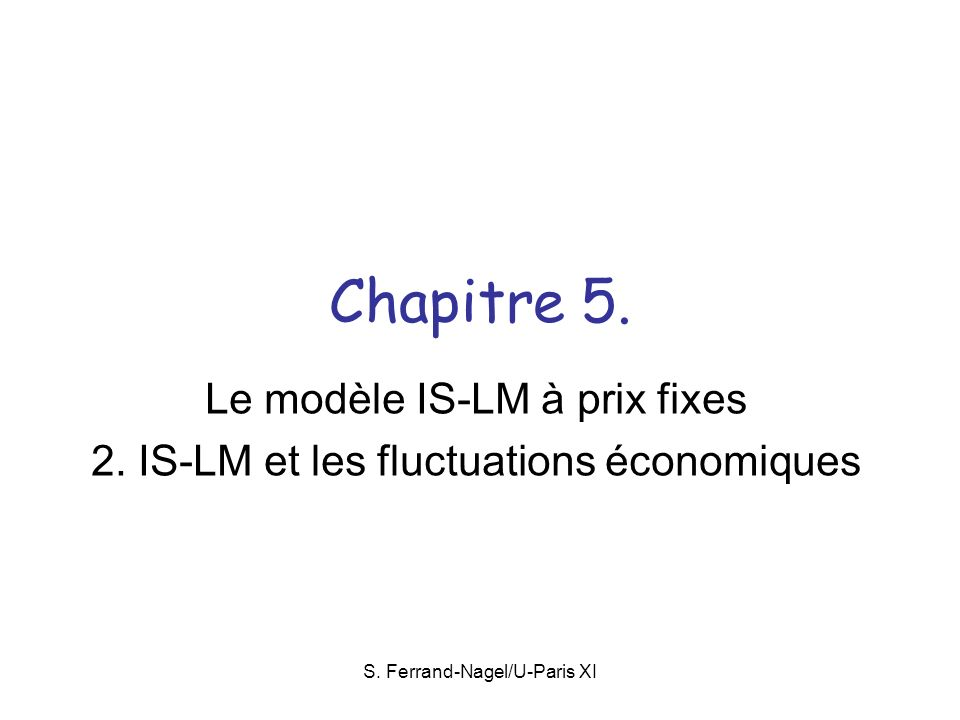 S.Ferrand-Nagel/U-Paris XI 5.1.