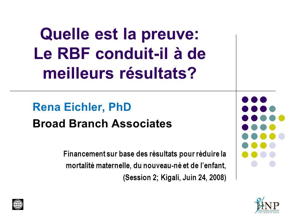 Quelle est la preuve: Le RBF conduit-il à de meilleurs résultats.