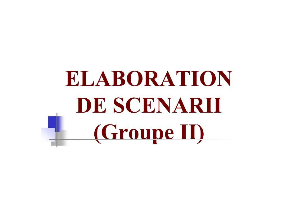 ELABORATION DE SCENARII (Groupe II)
