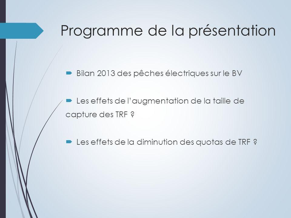 Bilan piscicole 2013 4 pêches électriques de sauvetage (3 Yzeron, 1 Charbonnière) 3 pêches électriques suivi têtes de bassins 2013