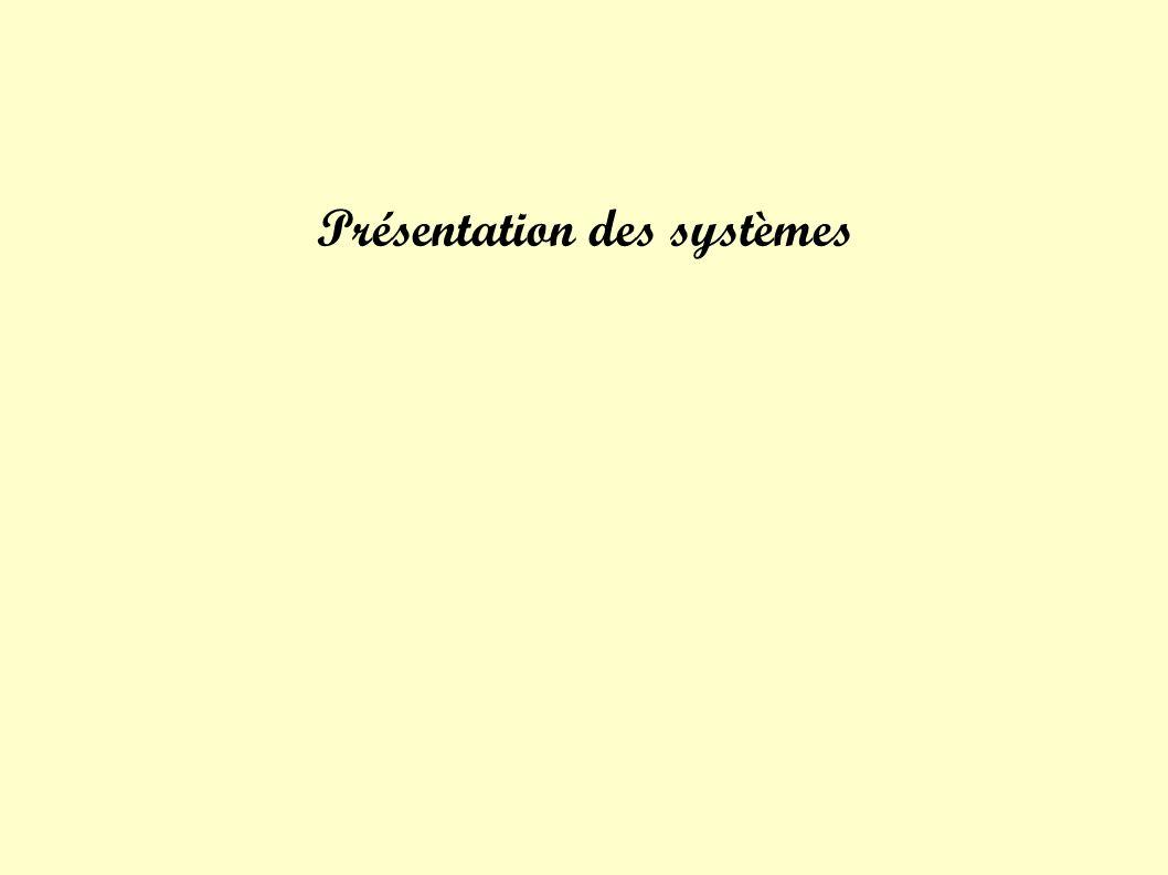 Présentation des systèmes