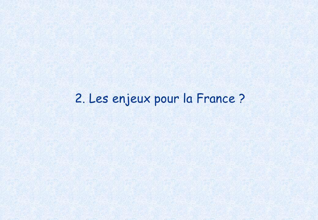 2. Les enjeux pour la France ?
