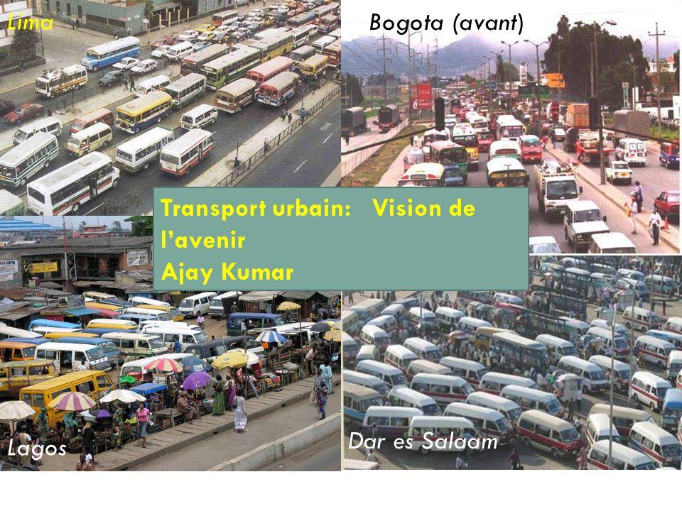 I-1 Lima Bogota (avant) Dar es Salaam Lagos Transport urbain: Vision de lavenir Ajay Kumar