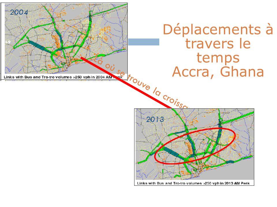 I-9 Déplacements à travers le temps Accra, Ghana Là où se trouve la croissance