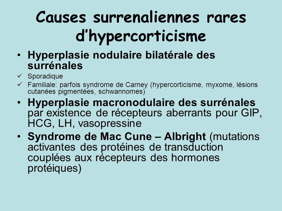 CAUSES DES IS LENTES ACQUISES Pathologie auto-immune (60%) : IS isolée = maladie dAddison ( Présence danticorps anti-surrénaliens) ou associée à dautres maladies PEA type 2 (IS 100%,hypothyroidie 69%, diabète 52%, vitiligo 4,5%) PEA type 1 (enfant) (IS 67%, hypoparathyroidie 82%, candidose cutanéo-muqueuse 75%, alopécie 30%, Biermer 14%, insuffisance gonadique 15%)