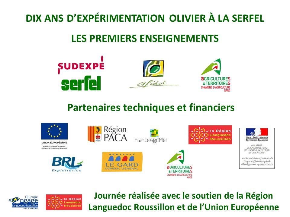 DIX ANS DEXPÉRIMENTATION OLIVIER À LA SERFEL LES PREMIERS ENSEIGNEMENTS Partenaires techniques et financiers Journée réalisée avec le soutien de la Ré