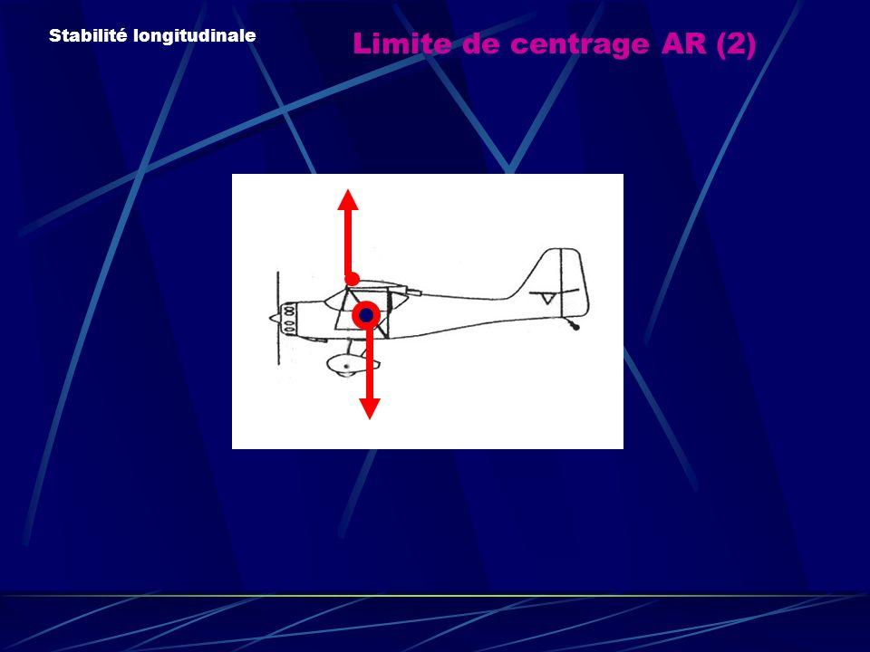 Limite de centrage AR (2) Stabilité longitudinale