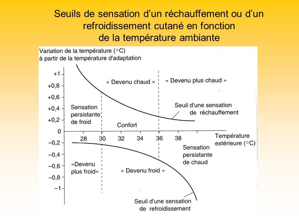 Seuils de sensation dun réchauffement ou dun refroidissement cutané en fonction de la température ambiante