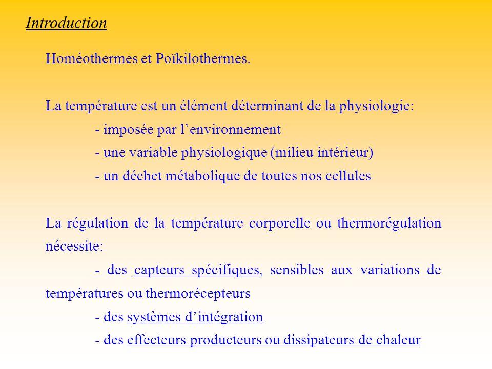 Homéothermes et Poïkilothermes. La température est un élément déterminant de la physiologie: - imposée par lenvironnement - une variable physiologique