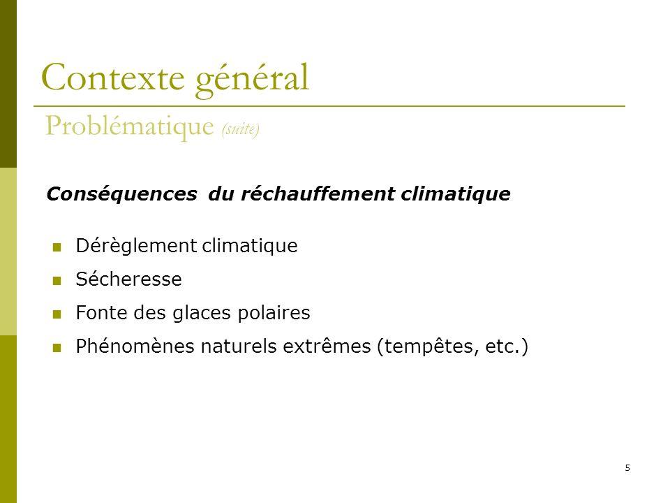 5 Dérèglement climatique Sécheresse Fonte des glaces polaires Phénomènes naturels extrêmes (tempêtes, etc.) Conséquences du réchauffement climatique C