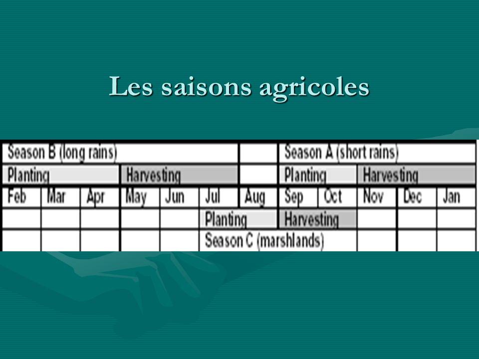 Les saisons agricoles