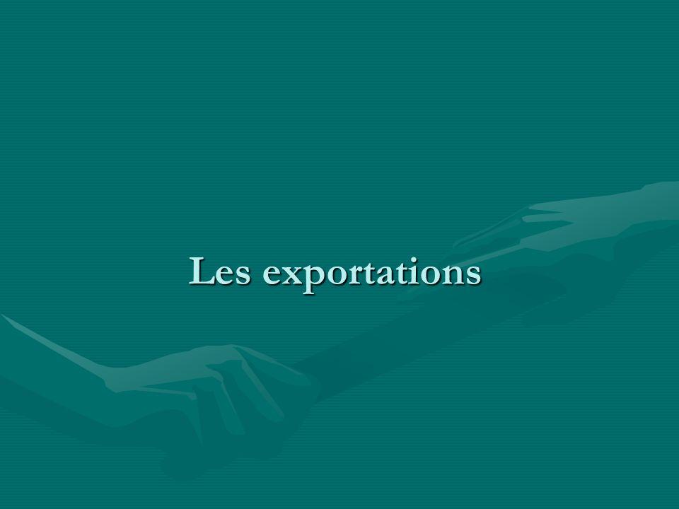 Les exportations