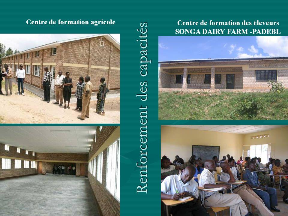 Centre de formation des éleveurs SONGA DAIRY FARM -PADEBL Centre de formation agricole Renforcement des capacités
