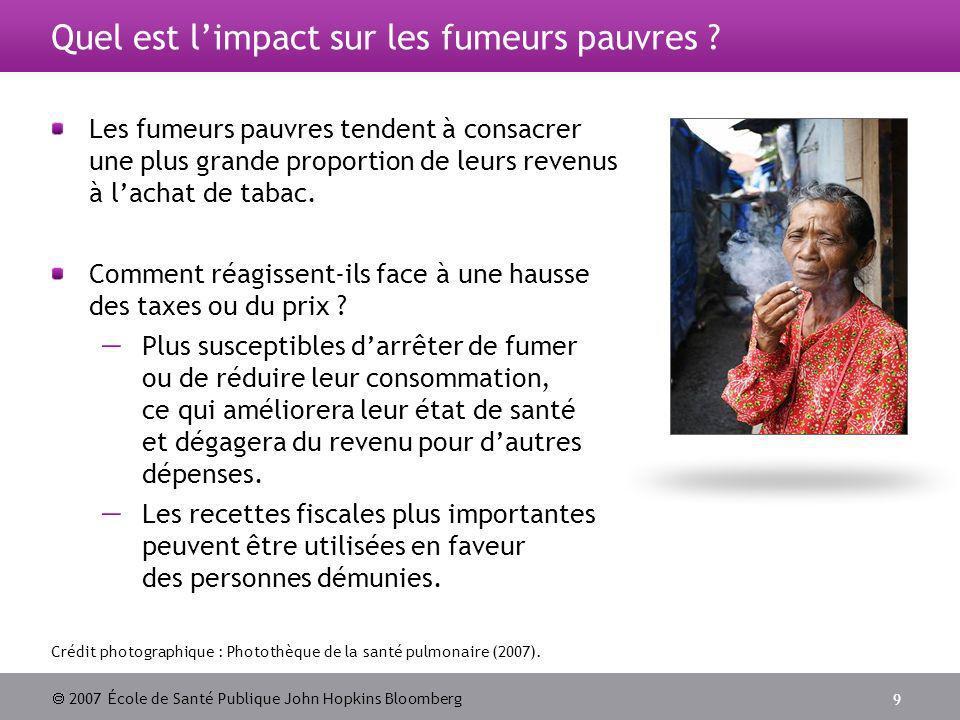 2007 École de Santé Publique John Hopkins Bloomberg 9 Crédit photographique : Photothèque de la santé pulmonaire (2007).