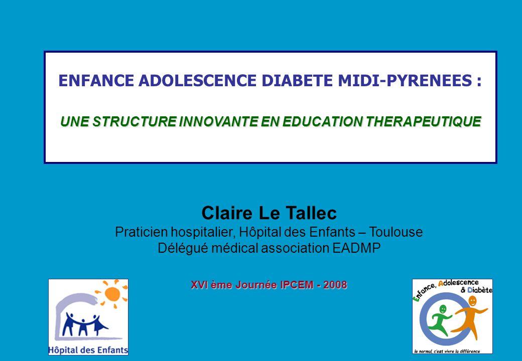 XVIe JOURNEE IPCEM – Novembre 2008 Problématiques Développement de léducation thérapeutique en diabétologie pédiatrique depuis 1989 Actions au plus près de la vie quotidienne des enfants Problématiques COÛT