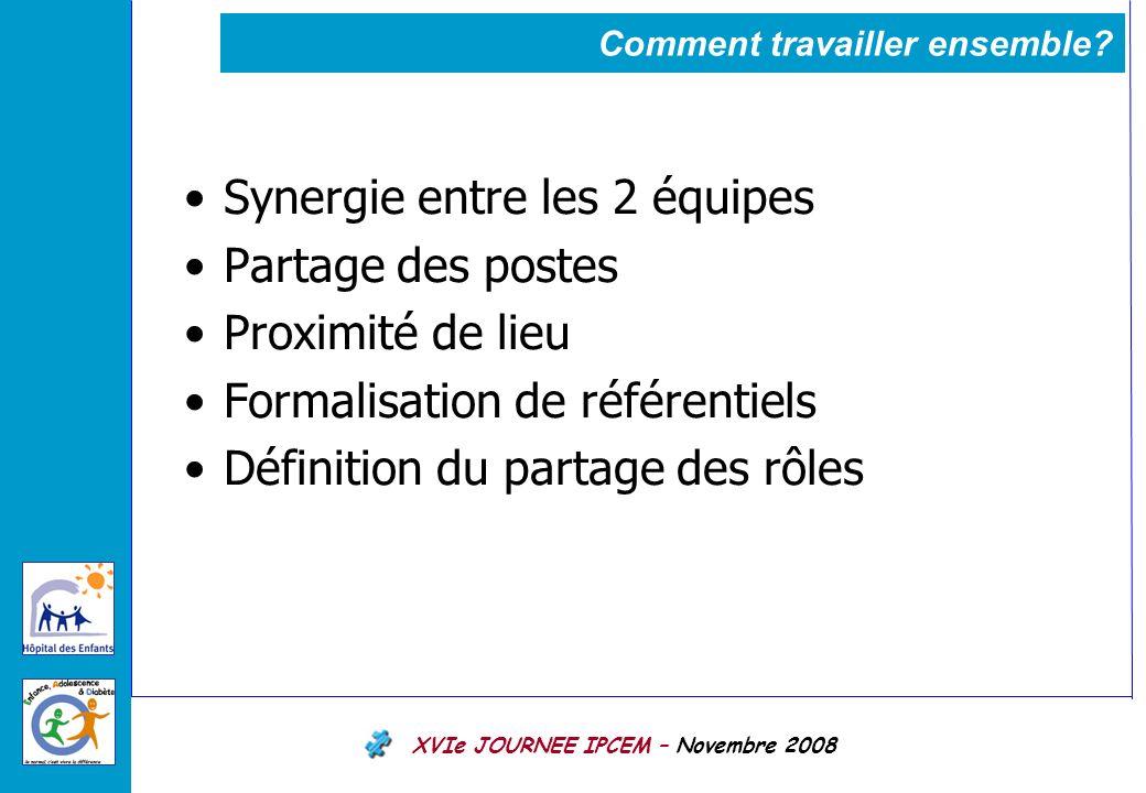 XVIe JOURNEE IPCEM – Novembre 2008 Comment travailler ensemble.