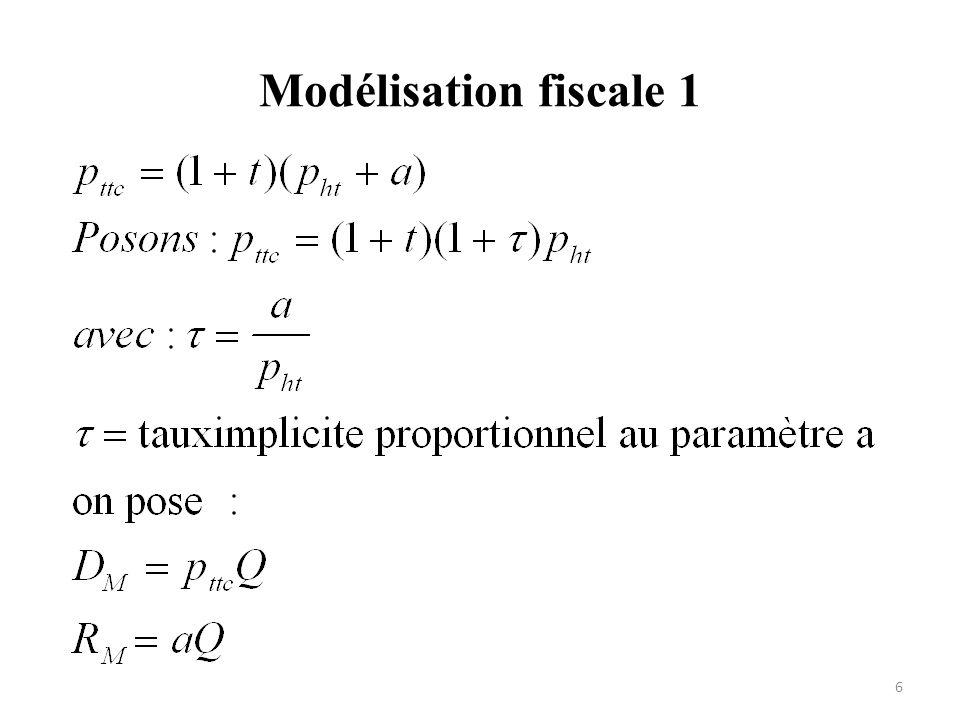 Modélisation fiscale 2 7