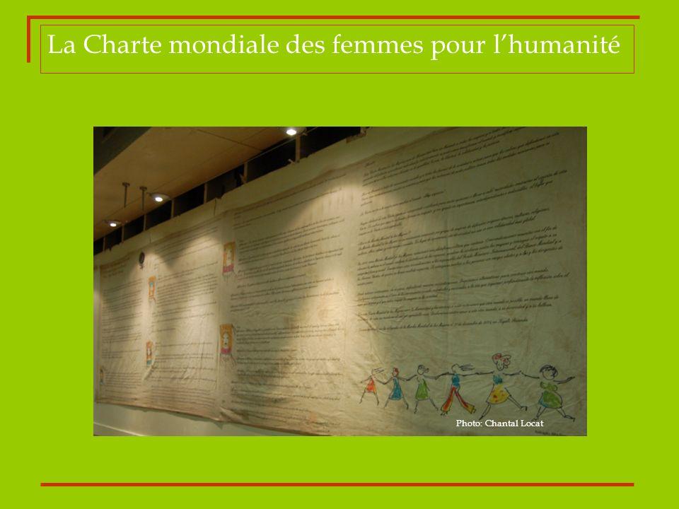 La Charte mondiale des femmes pour lhumanité Photo: Chantal Locat