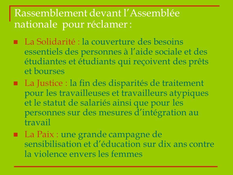 La Solidarité : la couverture des besoins essentiels des personnes à laide sociale et des étudiantes et étudiants qui reçoivent des prêts et bourses L