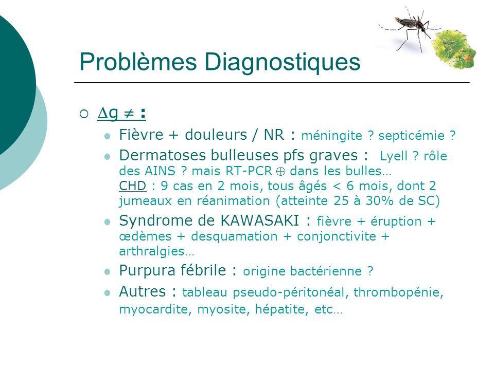 Problèmes Diagnostiques g : Fièvre + douleurs / NR : méningite .