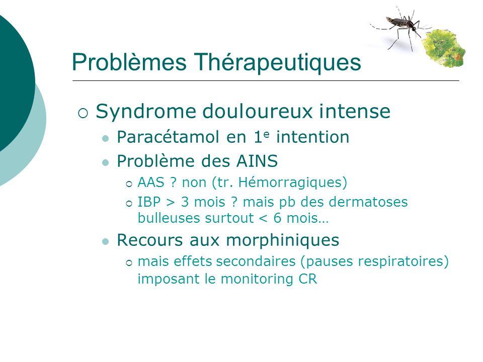Problèmes Thérapeutiques Syndrome douloureux intense Paracétamol en 1 e intention Problème des AINS AAS .