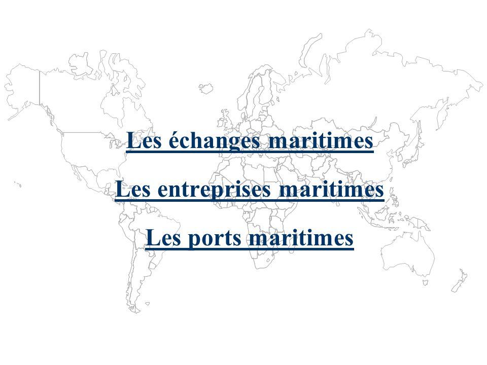 Les échanges maritimes Statistiques et tendances Lindustrie maritime mondiale 1970-2000 Les transports maritimes 2002-2003 Flux de marchandises Partie I