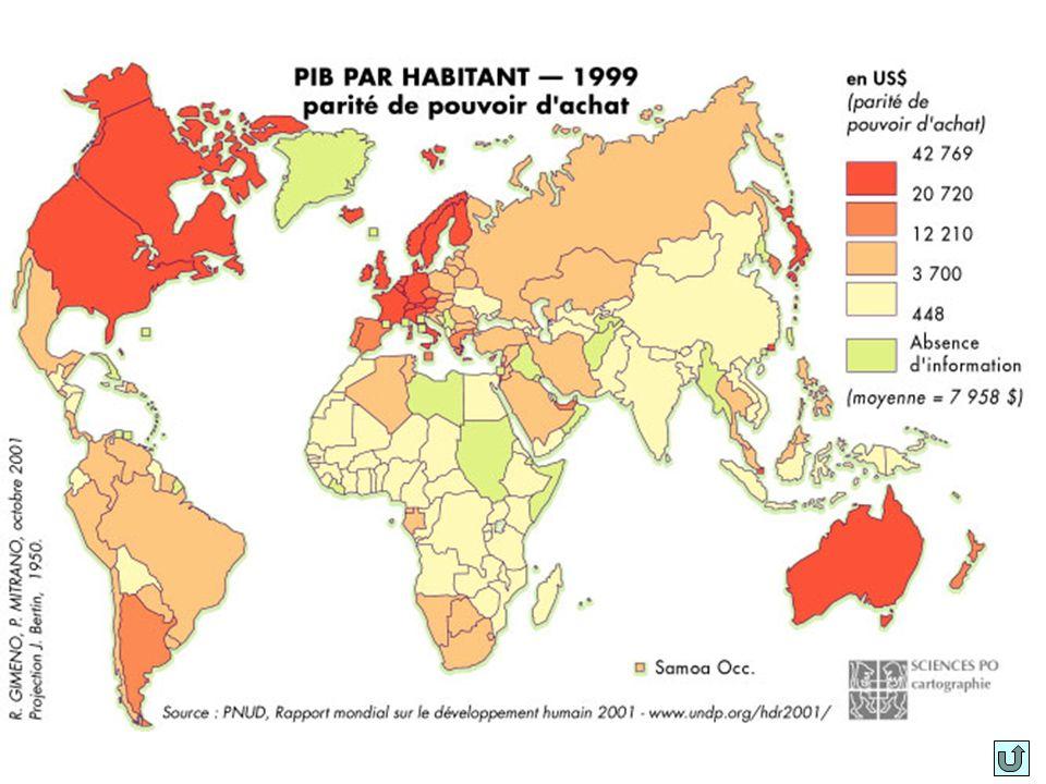 PART DES ÉCHANGES Europe Occidentale………42% Asie du SE (hors Japon)…18% Amérique du Nord……….16% Japon…..…………………..9% Amérique Latine…………..5% Moyen-Orient…………...…4% Europe de lEst…………….3% Australie, N.