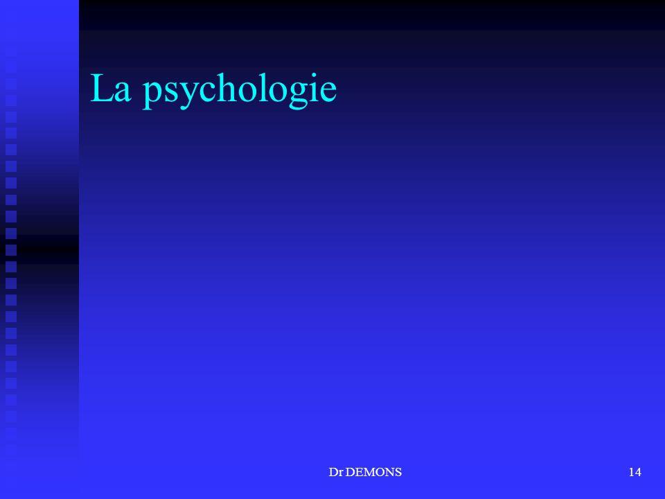 Dr DEMONS14 La psychologie