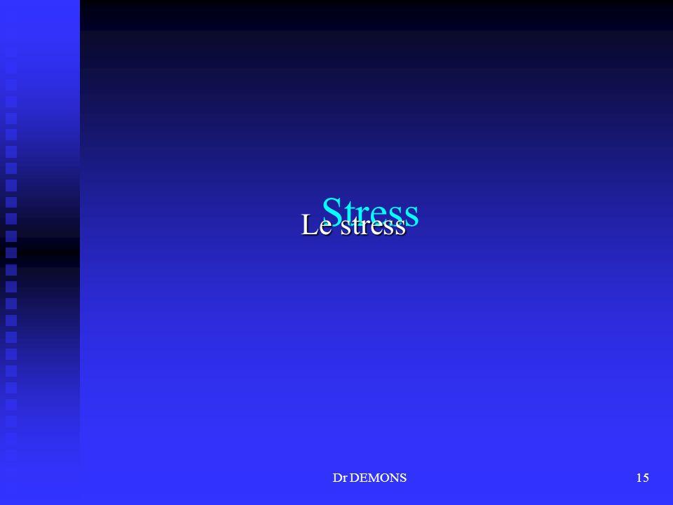 Dr DEMONS15 Stress Le stress
