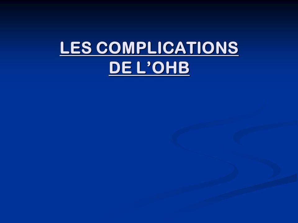 LES COMPLICATIONS DE LOHB