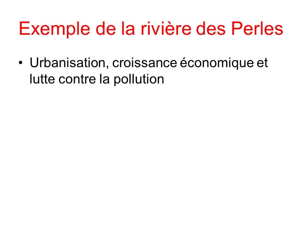 Exemple de la rivière des Perles Urbanisation, croissance économique et lutte contre la pollution