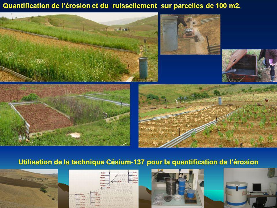 Quantification de lérosion et du ruissellement sur parcelles de 100 m2. Utilisation de la technique Césium-137 pour la quantification de lérosion