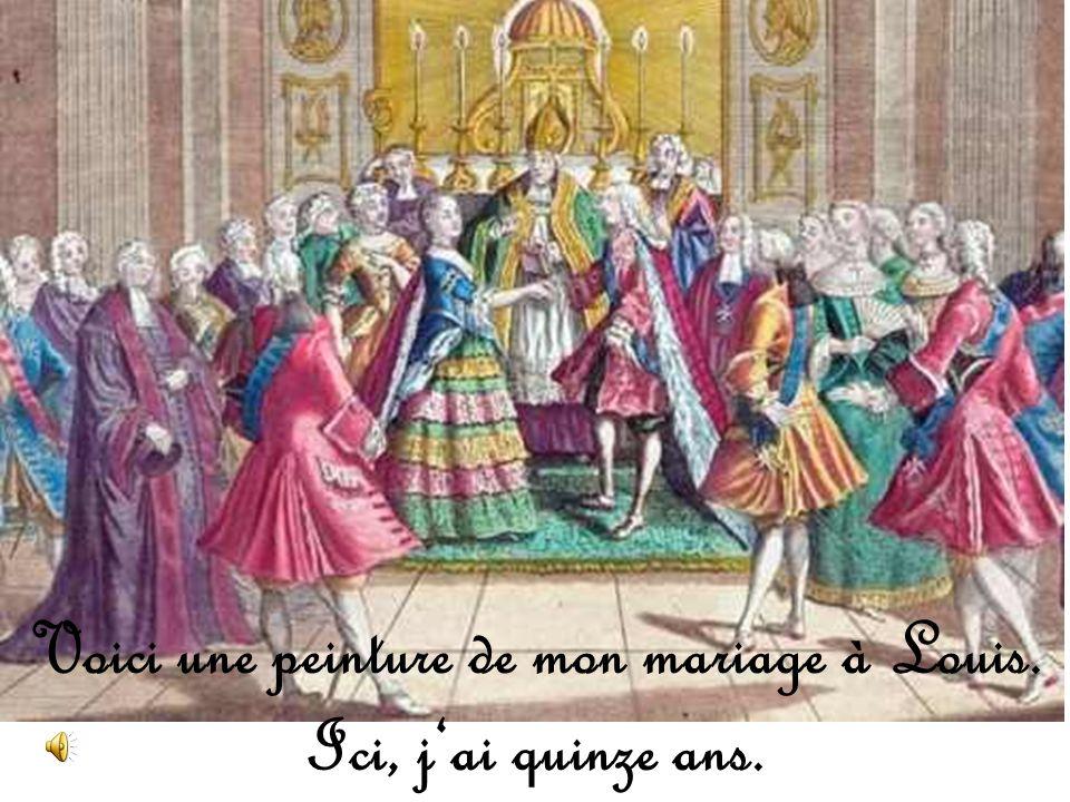 Maintenant, je vie au Palais de Versailles. Cest très joli, nest-ce pas?