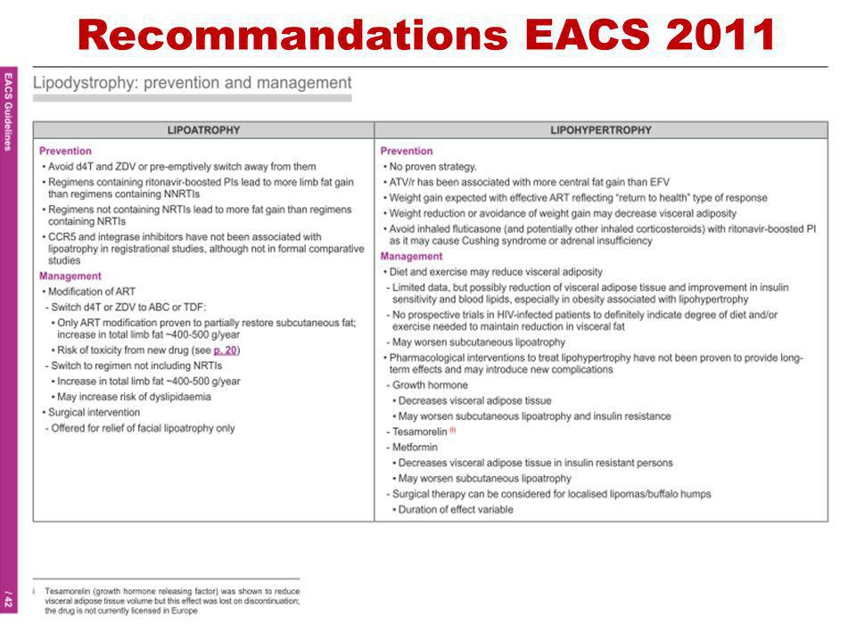 Recommandations EACS 2011