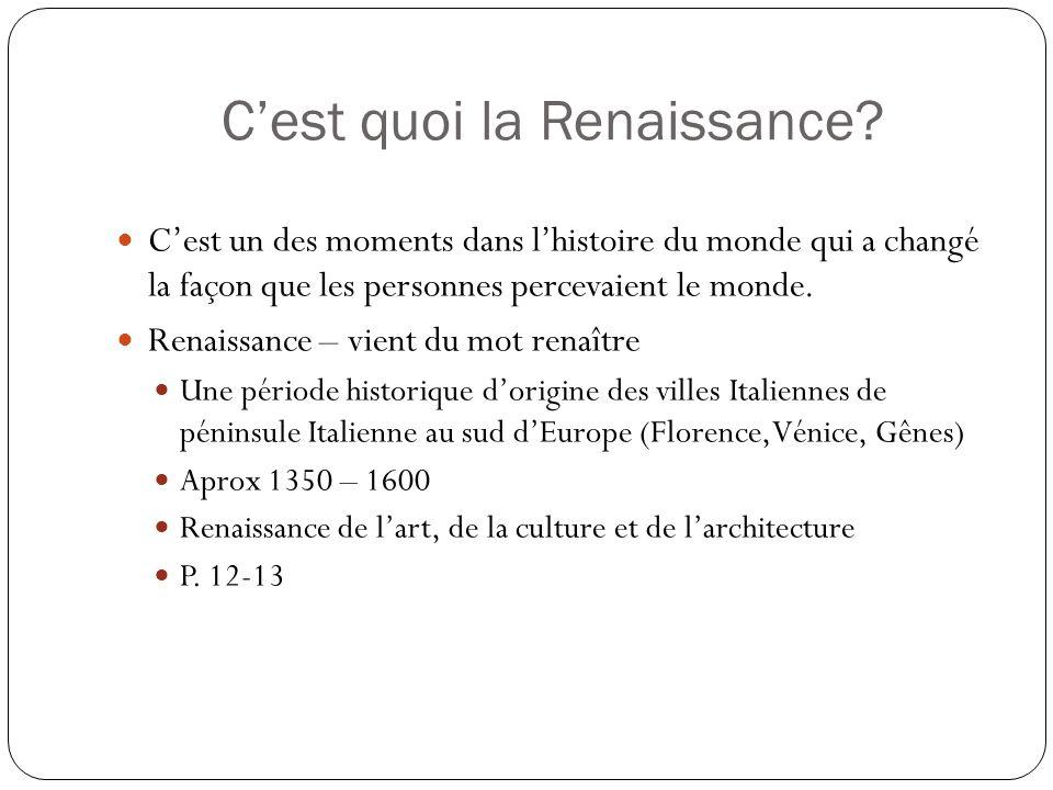 Cest quoi la Renaissance.
