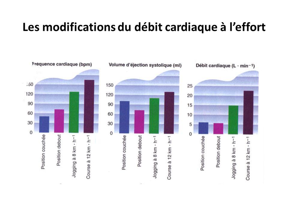 Les modifications du débit cardiaque à leffort Unité 1 – Principe de la physiologie de lexercice et évaluation de lexercice