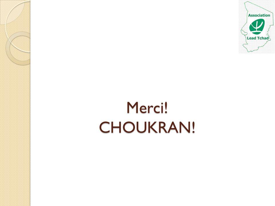 Merci! CHOUKRAN!