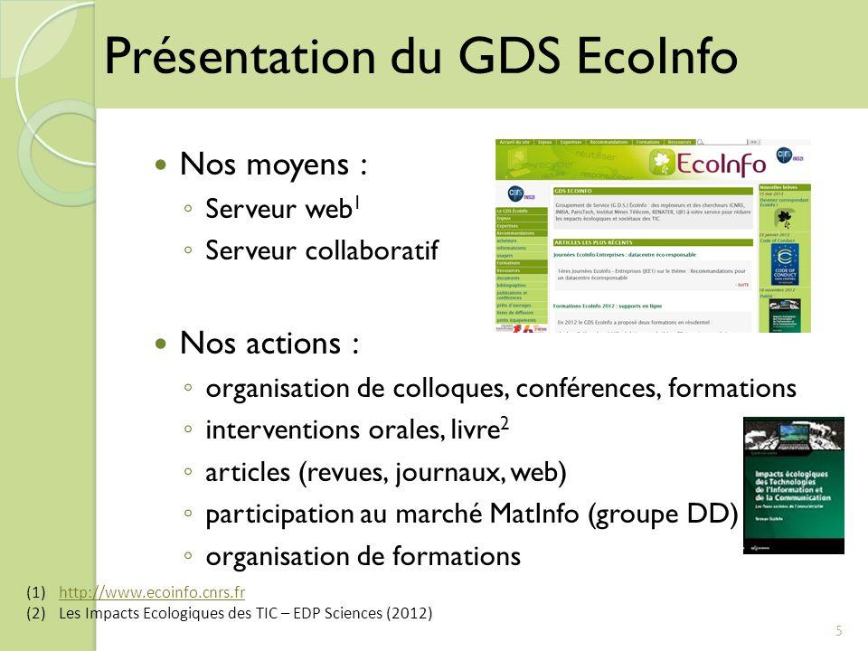 Nos moyens : Serveur web 1 Serveur collaboratif Nos actions : organisation de colloques, conférences, formations interventions orales, livre 2 article